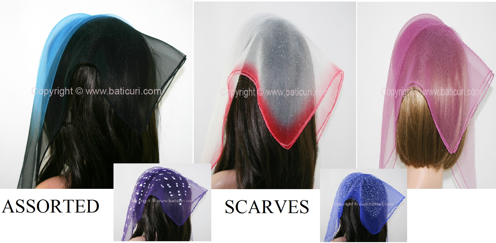 **Nylon Square Scarves